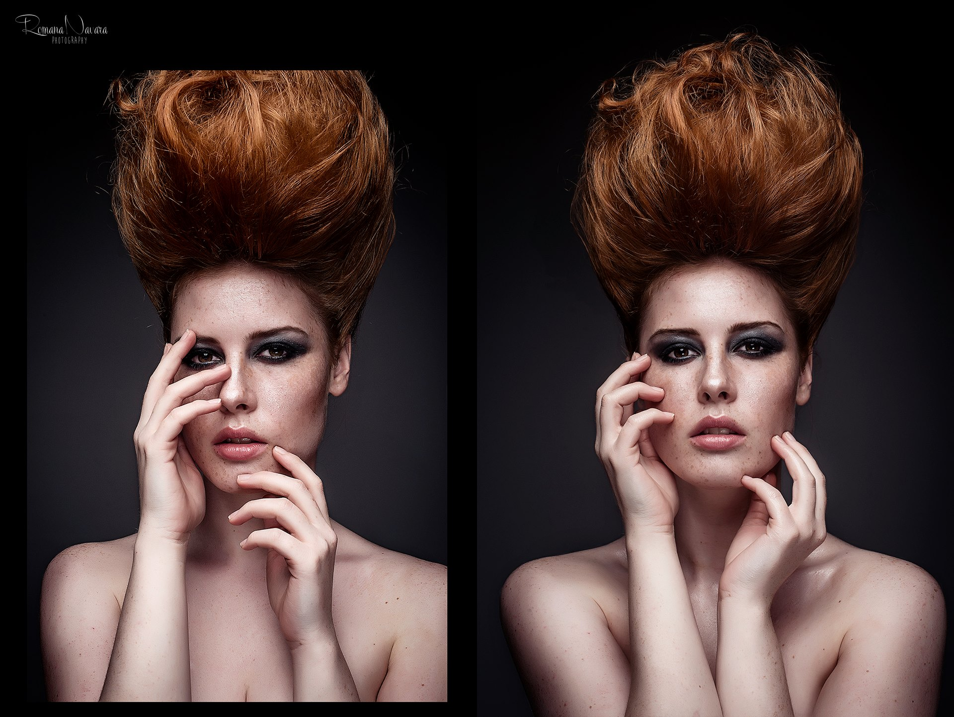 Lenka Regalová redhead freackles rock volume hair
