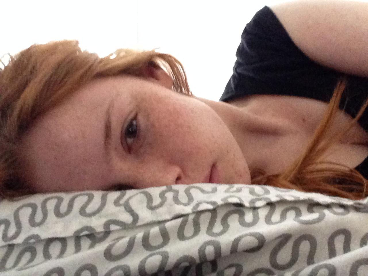 morning selfie lenka regalová redhead freackles