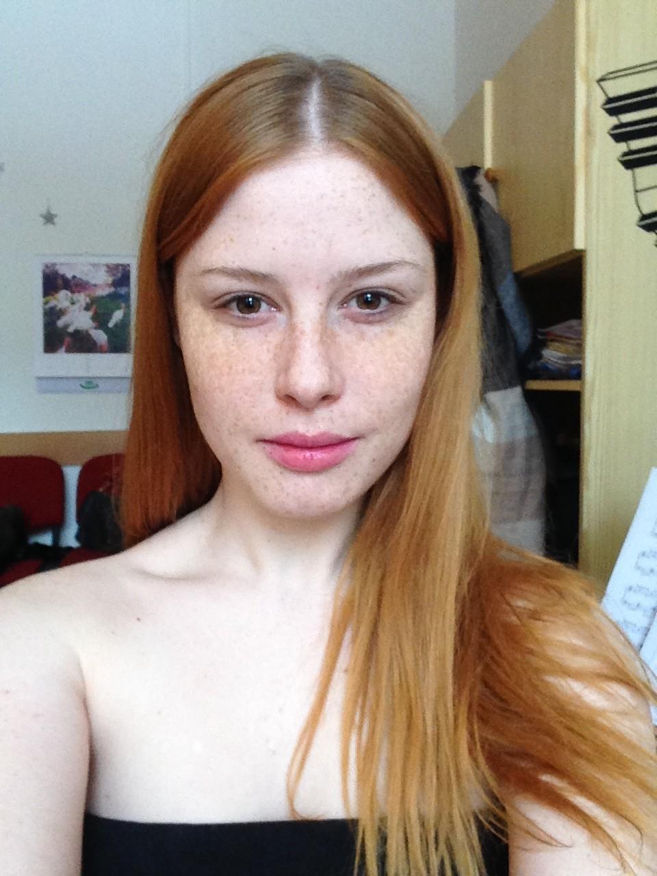 photoshoot visage redhead mo makeup lenka Regalová cityflower