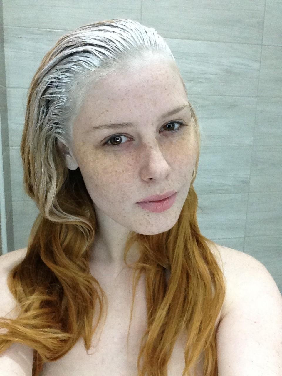 redhead photoshoot visage freckles cityflower